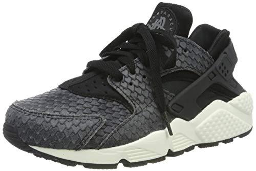 Nike Sportswearair Huarache Run Premium - Sneakers Low - zwart/sail/donkergrijs