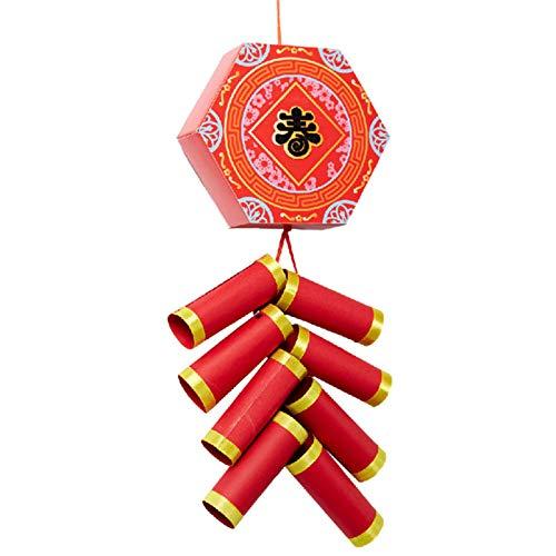 Crazyfly 2021 Chinesisches neues Jahr DIY Feuerreste Home Dekorationen Gute Wünsche für Freund Familie