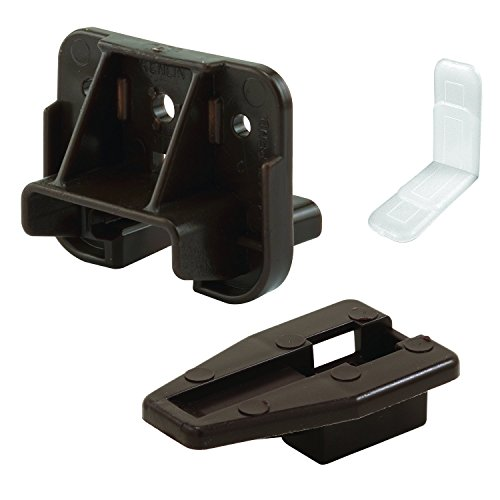 Slide-Co 223887 Drawer Track Guide and Glides – Replacement Furniture Parts for Dressers, Hutches and Night Stand Drawer Systems (Pack of 2),Brown