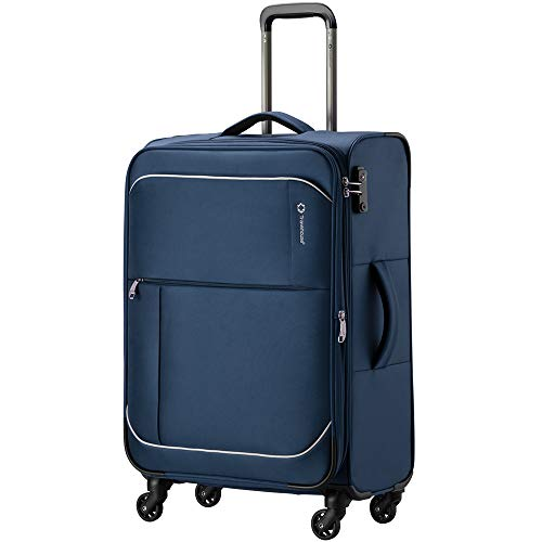 [トラベルハウス]Travelhouse ソフトスーツケース キャリーバッグ 撥水加工 S型機内持込 大容量 超軽量 Tsaロック 容量拡張(1年安心保証)