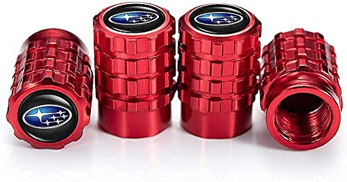 4 Piezas Coche Tapas de Válvula para Subaru BRZ Outback Forester XV, Cubiertas Impermeables de Prueba de Polvo Tapones de Válvula de Neumáticos