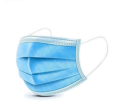 M-e-d-i-s-che Gezichtsm-a-s-k-e-rs, Chirurgische Ma-skers met 2 Elastische Oorlussen, 3-Ply Stofdicht, Ademend en Comfortabel Antivirale Sanitaire Ma-skers (5 stuks)