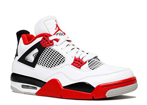 Jordan Air Jordan 4 Retro Unisex - White Fire Red Black - 42.5 EU