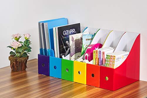 ReskyボックスファイルA4紙収納ボックス小物入れファイルスタンド6色6個組