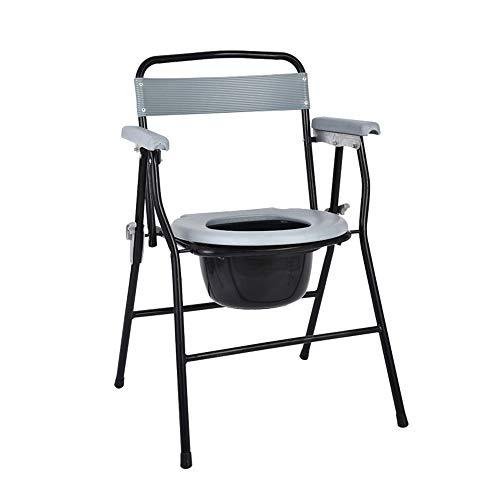 SSZZ Household Commode Chair – afneembare klapstoel, comfortabel en duurzaam, geschikt voor zwangere mensen met een handicap enz.