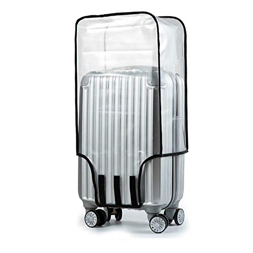 Protective Luggage Cover Travel Business Clear PVC Baggage Covers Transparent Suitcase Cover Protectors for Wheeled Suitcase Waterproof Scratch Proof Large 28' (45cm L x 30cm W x 67cm H)
