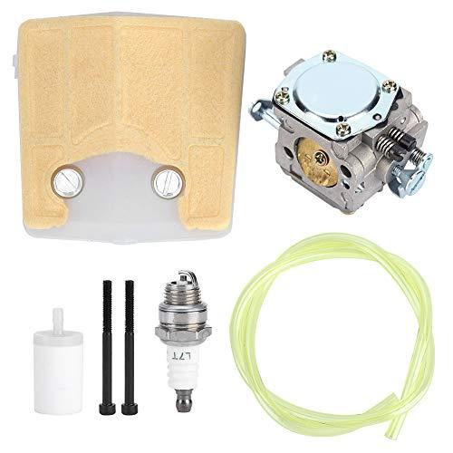 Carburador de aleación de aluminio de primera calidad, filtro de aire, kit de bujías, ajuste de rendimiento estable para Jonsered 625630625, herramienta de jardinería para motosierra