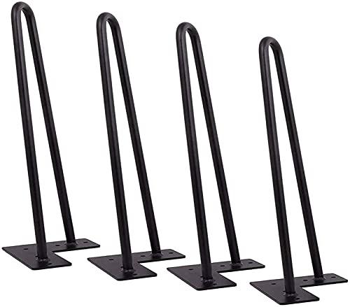 Patas de mesa de horquilla de 4 piezas, Supporting Foot Patas para Muebles, DIY de altura para uso pesado Patas de reemplazo del gabinete para Mueble TV/Mesita Noche/Mesa(Color:黑色,Size:40cm)