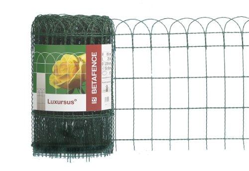 Zaungeflecht, grün, 400 mm Höhe, 25 m Rolle, Drahtstärke: 2,4 / 3,0 mm, Maschenweite: 150 x 90 mm