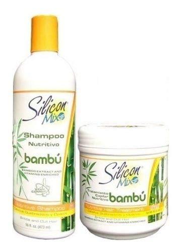 Kit Silicon Mix Bambu Shampoo 473ml E Mascara 450ml