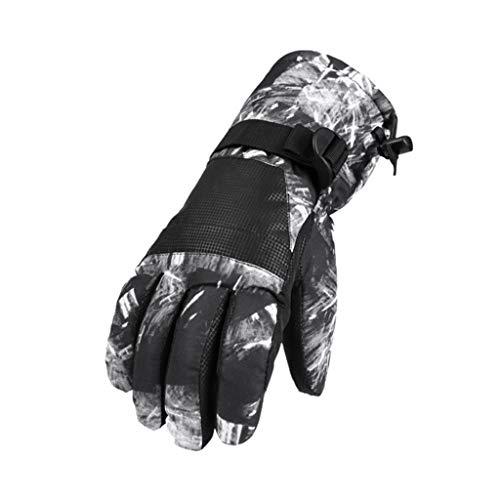 Touchscreen Skihandschuhe, Marxways Wasserdicht Wärmende Handschuhe, Handwärmer für Motorradfahren Skifahren Angeln Reiten Fahrrad Radfahren Motorrad Wandern Camping (Männer Handschuhe, F)