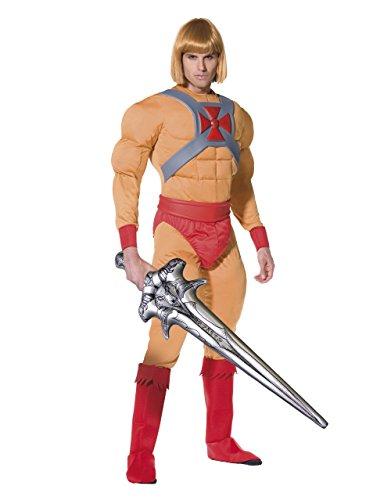 KULTFAKTOR GmbH He-Man Superheld Comic Lizenz Kostüm beige-rot M