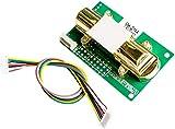 ICQUANZX Sensor de dióxido de Carbono - DC4-6V NDIR MH-Z14A Sensor de dióxido de Carbono Módulo de inducción de Gas CO2 0-5000ppm - Placa de módulo Compatible con Kits de SCM y Bricolaje