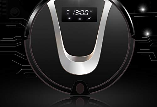 Best Deals! Robot Vacuum Cleaner, 8.8cm Thin, Super Quiet, Auto Charge Robotic Vacuum, Pet Hair Care, Cleaning Robot with Anti-Drop and Collision Sensor, Works on Hard Floor to Carpet,Black