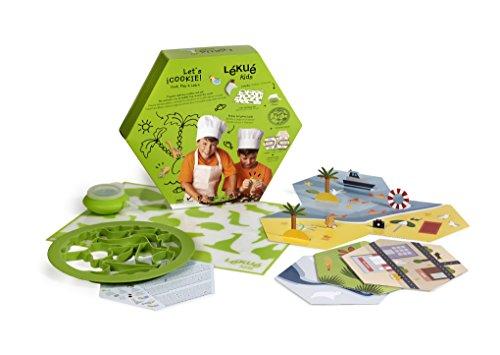 Lékué Utensilio de Repostería Diseño Let's Cookie, Silicona, Multicolor, 59.1 x 60.2...