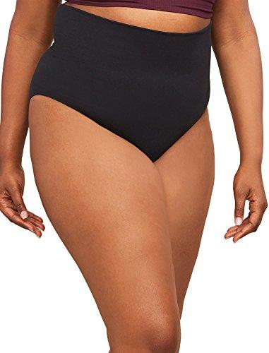 Motherhood Maternity Women's 2 Pack Postpartum Seamless Support Panty, Black/Nude, Large/Extra Large