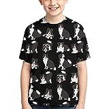 Camisetas para niños Border Collie Dog Cute Athletic Camiseta de Manga Corta de algodón para niños