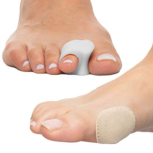 ZenToes Bunion Treatment Bundle - 4 Toe Separators and 24 Bunion Cushions - Relieves Big Toe Pain, Separates Overlapping Toes, Prevents Rubbing