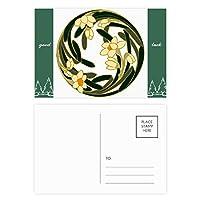 中国の花蕾芸術の円形パターン グッドラック・ポストカードセットのカードを郵送側20個