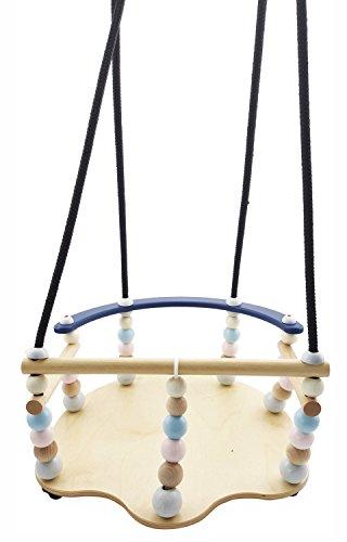 Hess 31102 - Holzspielzeug, Gitterschaukel de Luxe aus Holz, nature