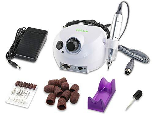 Profi Fräser-Set Fußpflegegerät Elektrisch für die Hornhaut-Entfernung mit Diamantschleifer und Hornhautentferner