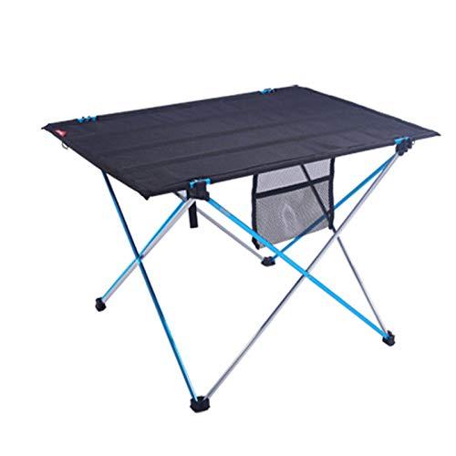 QWD Mesa Plegable portátil de Aluminio al Aire Libre, Mesa de Soporte de Campamento Mesa de Entrenamiento de la Actividad de la Superficie de Tela Simple para la Playa de la Barbacoa Camping Pesca
