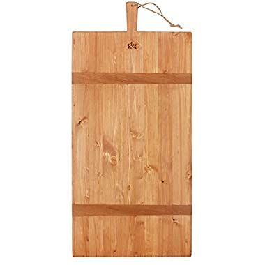 etuHOME Reclaimed Pine Wood Rectangle Charcuterie Board, XL (34  X 16 )