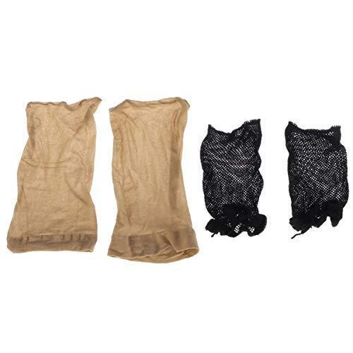 SUPVOX 4 Pcs Élastique Perruque Cap Dôme Style Court Long Cheveux Perruque Casquettes Bas Modèle Perruque Net pour Hommes Femmes