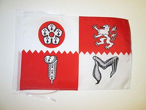 AZ FLAG Flagge GRAFSCHAFT Leicestershire 45x30cm mit Kordel - Leicestershire Fahne 30 x 45 cm - flaggen Top Qualität