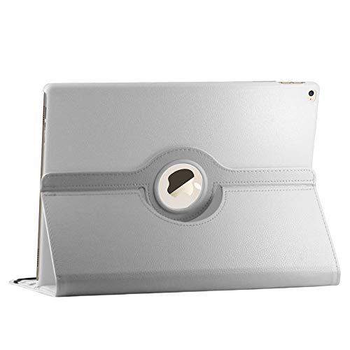 ebestStar - Cover Compatibile con iPad PRO 12.9 (2015) Custodia Protezione Pelle PU con Supporto Rotazione 360, Bianco [Apparecchio: 305.7 x 220.6 x 6.9mm, 12.9'']