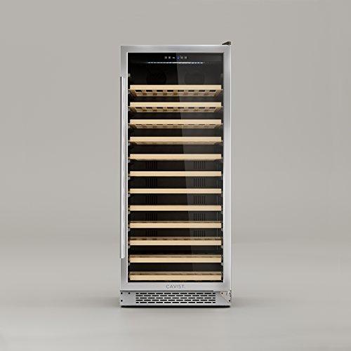 CAVIST CAVIST100 Weinkühlschrank/142 cm/LED-Beleuchtung/Kapazität 275 L - 100 Flaschen/12 Regale aus Holz