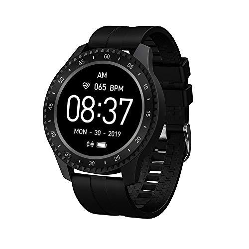 Yumanluo Smart Band Smart Watch,IP68 a Prueba de Agua, monitorización de frecuencia cardíaca/presión Arterial/sueño-Negro clásico,Pulsera Inteligente con Pulsómetro