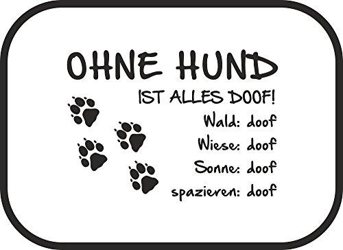 AdriLeo Autosonnenschutz Ohne Hund ist Alles doof! 2er Set incl. Befestigung