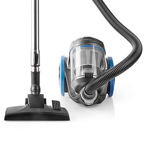 NEDIS Aspirateur   sans Sac   700 W   Capacité de poussière: 3.5 l   Brosse Parquet/Combi Brosse   Rayon d'action: 8 m   Filtre à air HEPA   Anthracite/Bleu