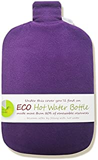 Hugo Frosch 2L Classic ECO Hot Water Bottle with Cover Highest Quality - Made in Germany (Purple)