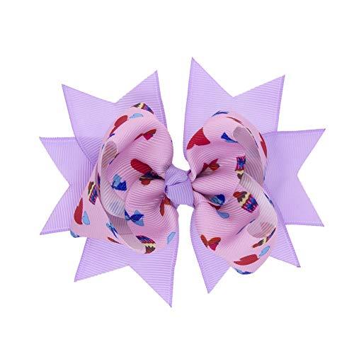 Moent Horquilla para el pelo con diseño floral para bebé y niña, para regalo del día de San Patricio (K,talla única)