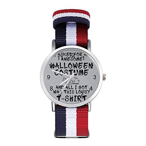 Lousy Halloween - Reloj de pulsera trenzado, diseño de camiseta de Halloween