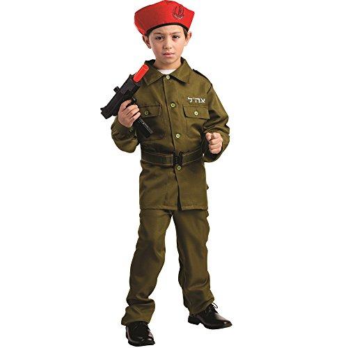Dress Up America - 782-S - Soldado de Las FDI Fuerzas de Defensa de Israel - 4-6 aos - Altura 107 cm - Verde