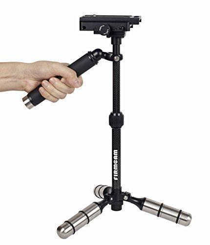 Gecko Schwebestativ (FC005) von Firmcam - Stabilisator und Stativ aus Carbon und Aluminium für Kamera, Video, Camcorder