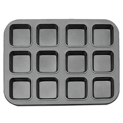 Brownie Pan 12CavityNonStick Carbon Steel Baking Bread Pan Baking Tray Bakeware for Oven Baking