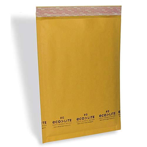 "Polyair Eco-lite #0 ELSS0 Golden Kraft Self Seal Bubble Mailer, 6 1/2"" x 10"" (Case of 250)"