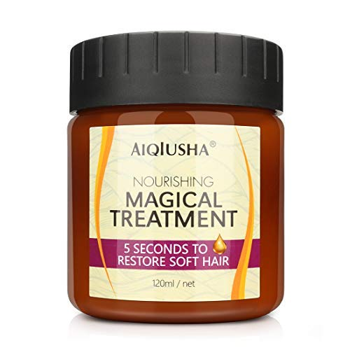 Magical Hair Mask, Hair Treatment Mask, Conditioner Haarkuren, Haarbehandlungsmaske, Haarmaske 5 Sekunden Reparaturen SchäDen Haarwurzel Haarwasser Keratin Haar & Kopfhautbehandlung (120ml)