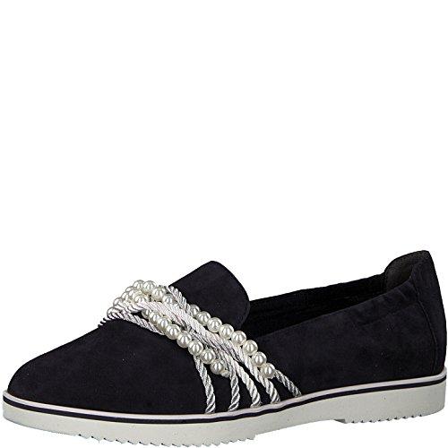 Tamaris 1-1-24218-30 Damen Slipper, Mokassins, Halbschuhe, Sommerschuhe für die modebewusste Frau blau (Navy), EU 39