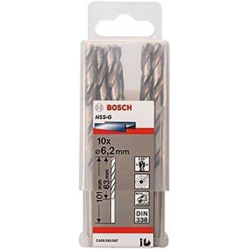 Bosch 2 608 595 067 - Pack de 10 brocas para metal HSS-G, DIN 338 ...