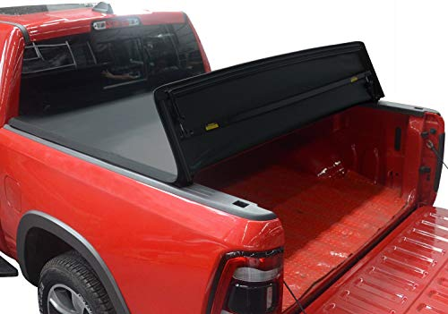 KSCPRO Quad Fold Tonneau Cover Soft Four Fold Truck Bed Covers for 2015-2021...