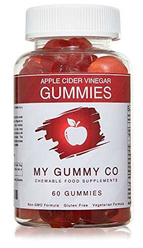 Apple Cider Vinegar Gummies with The Mother 1000mg ACV Gummies enriched with Vitamin B12 and Folic Acid - 60 Gummies per Bottle - Gluten Free Unfiltered