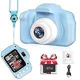 Macchina Fotografica per ragazzi e ragazze, LANXUN Regali di Natale di compleanno per 3 4 5 6 7 8 anni, fotocamera giocattolo HD 1080P per bambini, videocamere digitali per bambini con 32 GB scheda