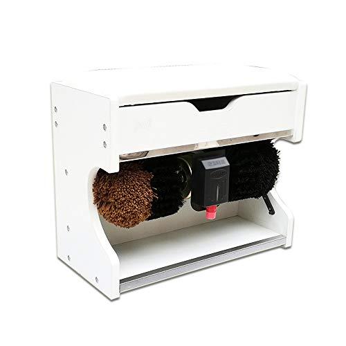 XSJZ Scrub Poliermaschine, Stand-Vollautomatische Reinigung Prozessor für Home Hotel Lobby Foyer elektrischer Schuhputzer (Color : B)