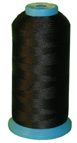 Black Bonded Nylon Sewing Thread V-69 T70 1500 Yard for Outdoor, Upholstery