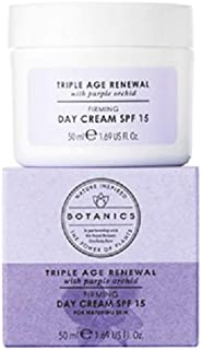 Boots Botanics Triple Age Renewal Day Cream SPF 15 1.69 Ounces - Reduces the Appearance of Deep Lines and Wrinkles